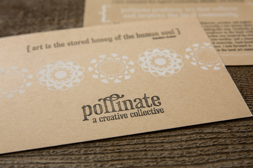 Pollinate info card | letterpress | screen print