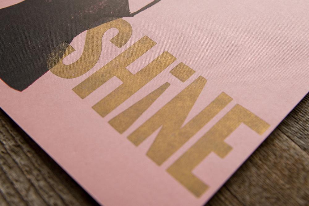 linoleum cut reduction print | vintage wood type