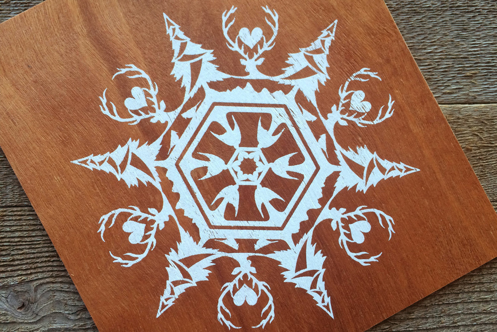 snowflake | wood ornament