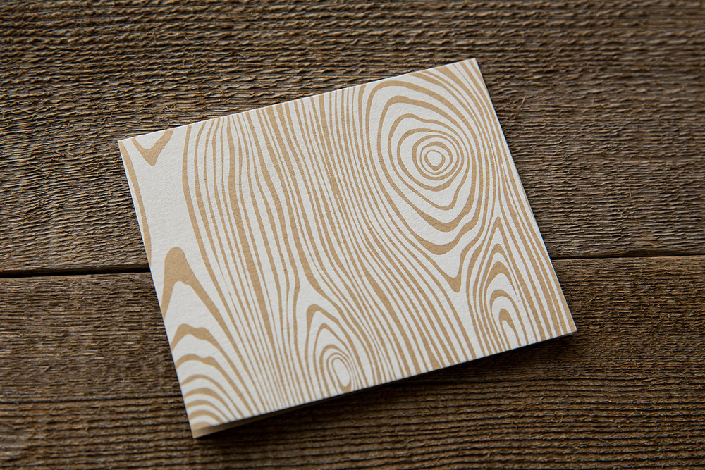 card | wood grain