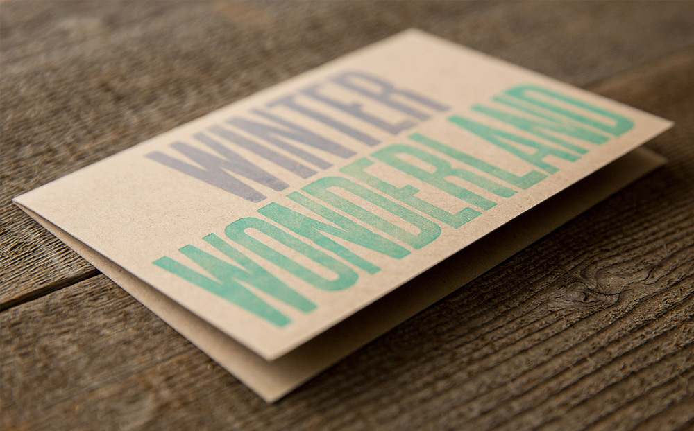 Winter Wonderland letterpress card
