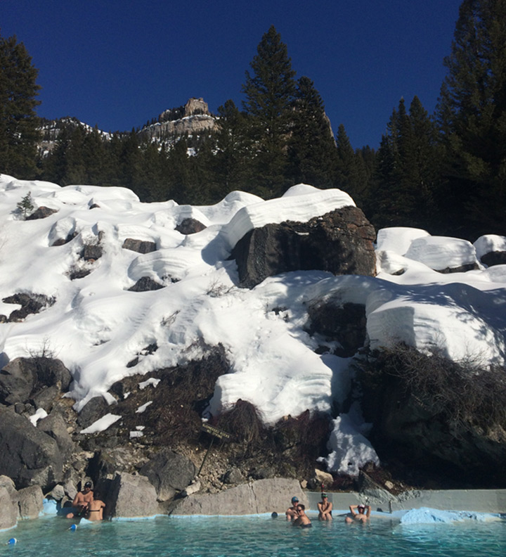 soaking at Granite Hot Springs