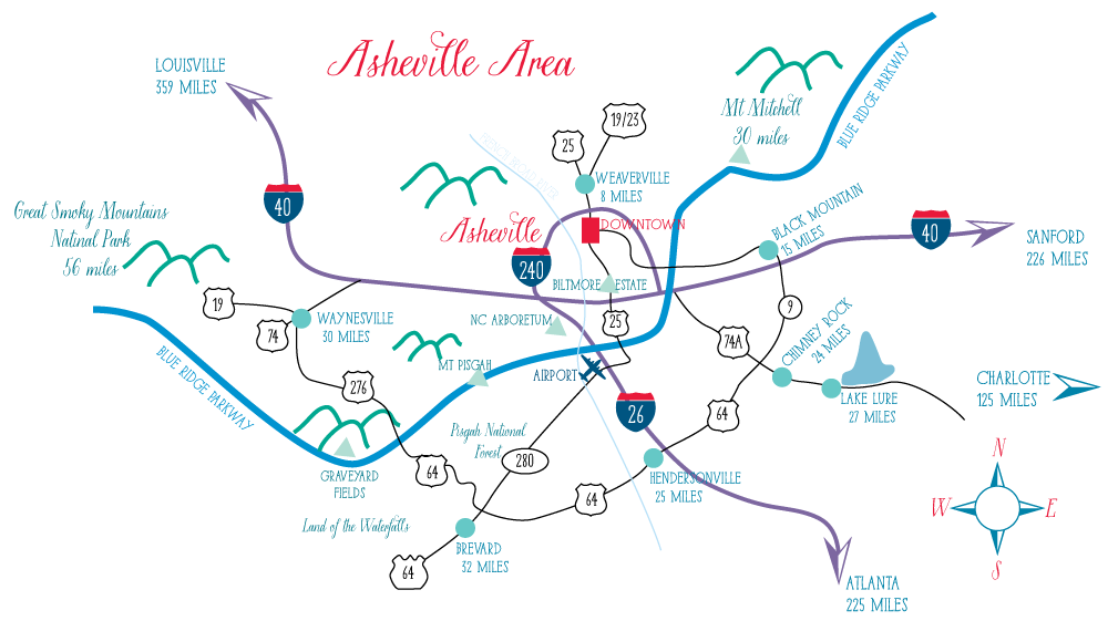 Asheville Area Map