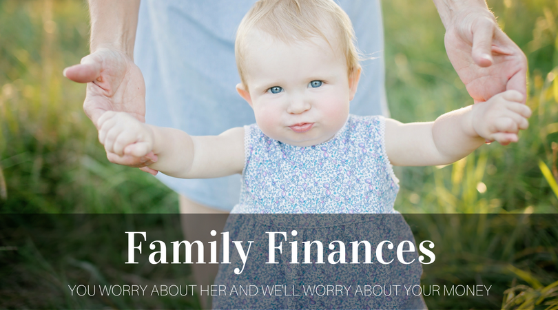 good example of young family finance company branding
