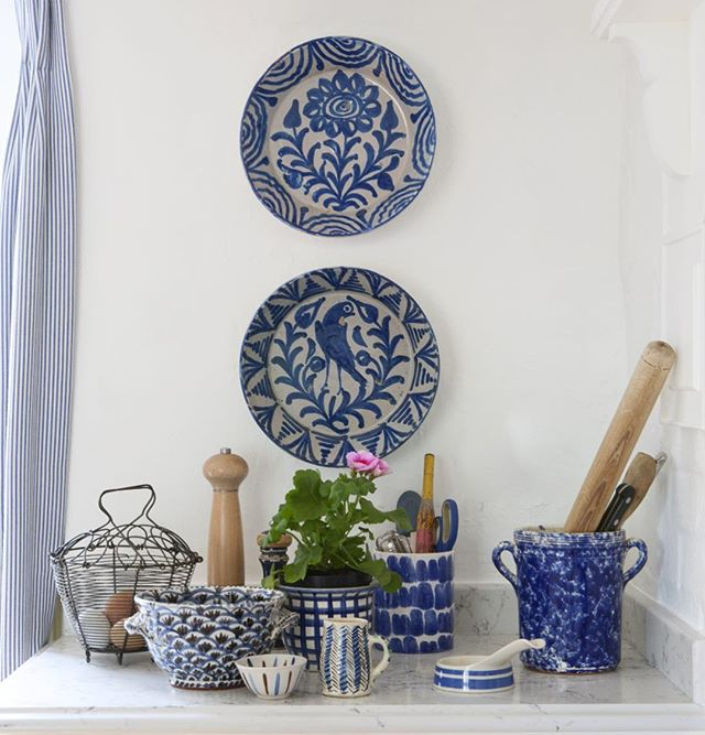 Blue and white styled by @benkendrick for @countrylivinguk photography by @huntleyhedworth