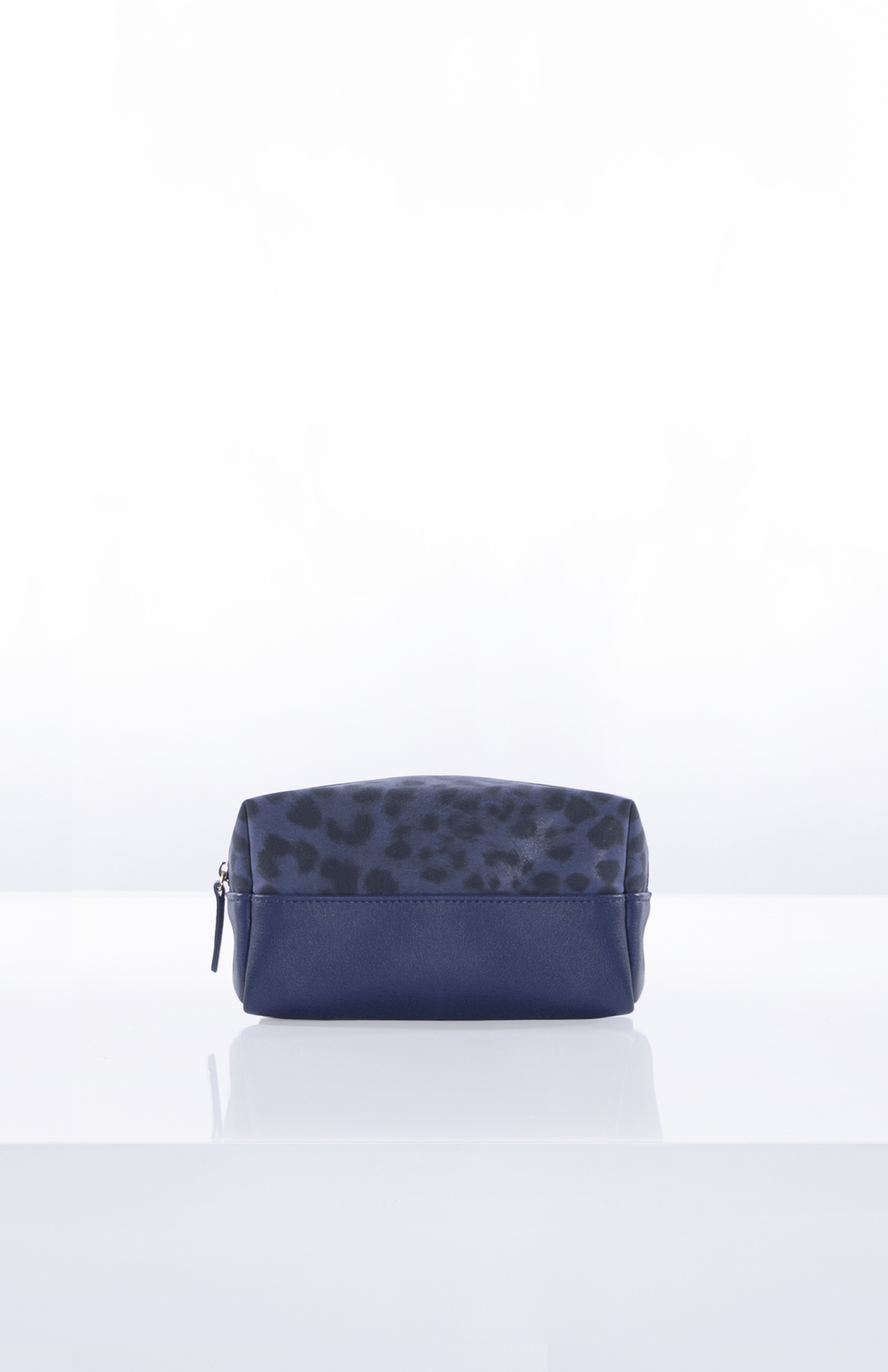 AVA (TWO-TONED)- Tonal Leopard + PU (Navy)
