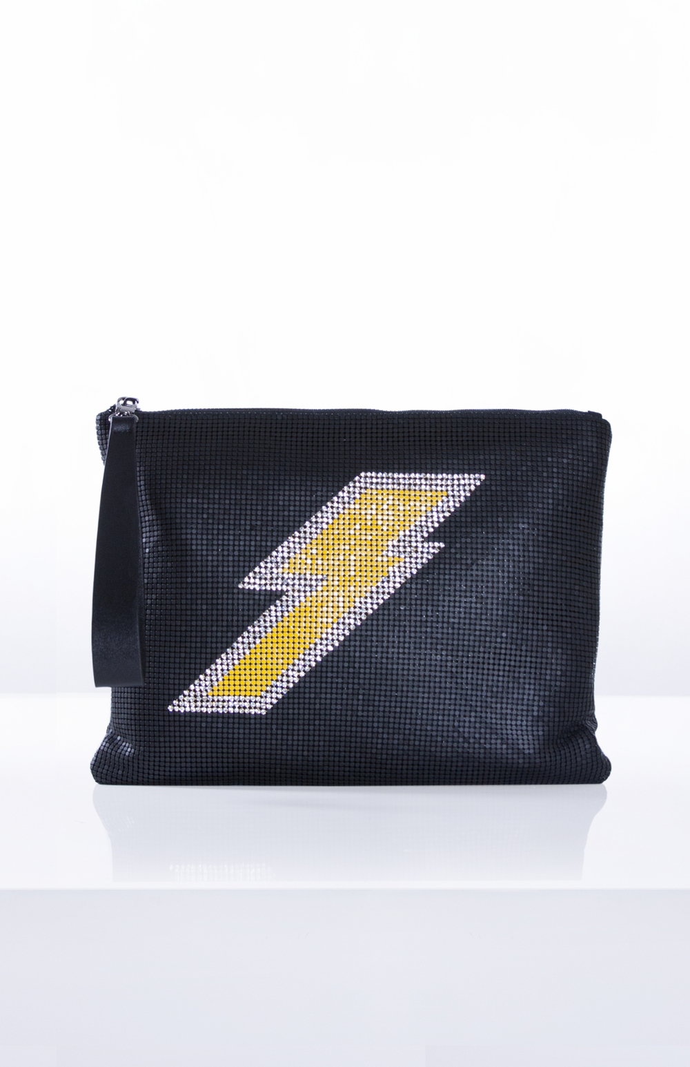 JUPITER MESH CLUTCH- Yellow + Black