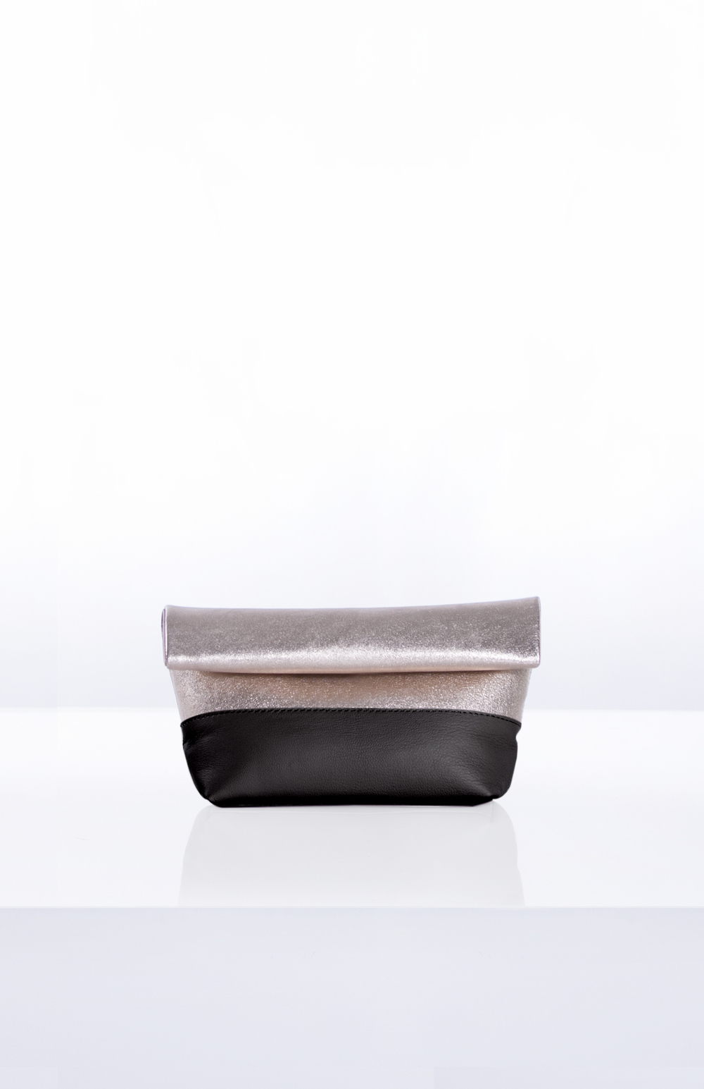 LUNA ROLLDOWN CLUTCH- Gold + Black