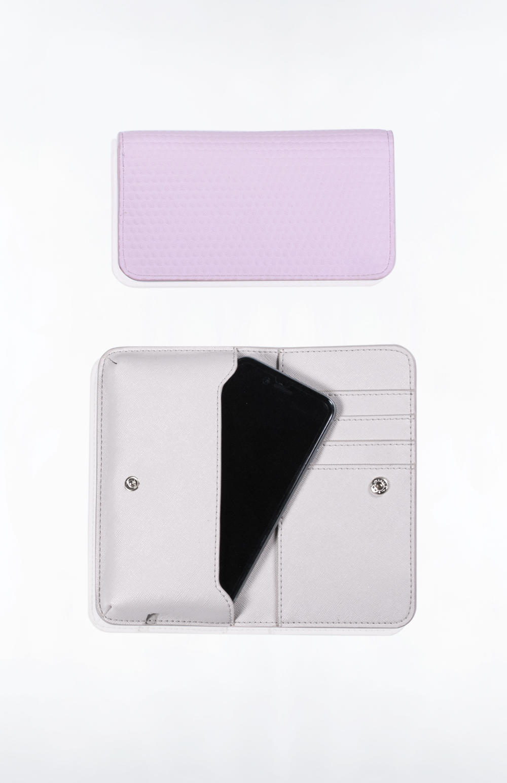CALLIE PHONE WALLET- Blush Bubble PU