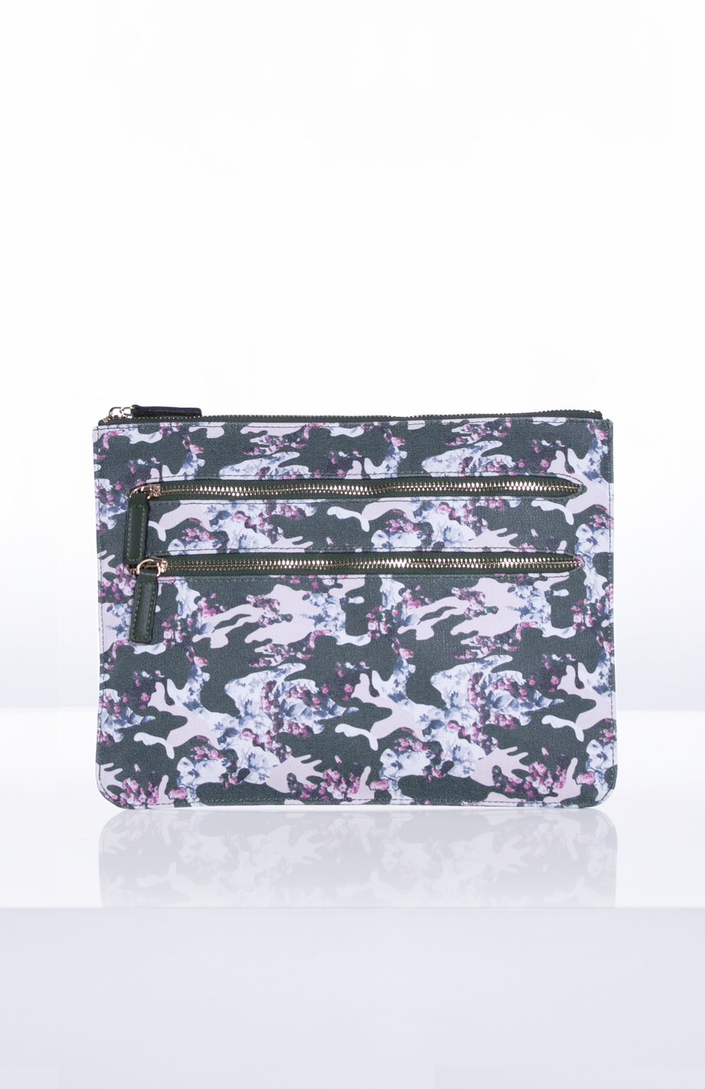 MILLY TECH POUCH- Custom Printed Saffiano (Floral Camo)