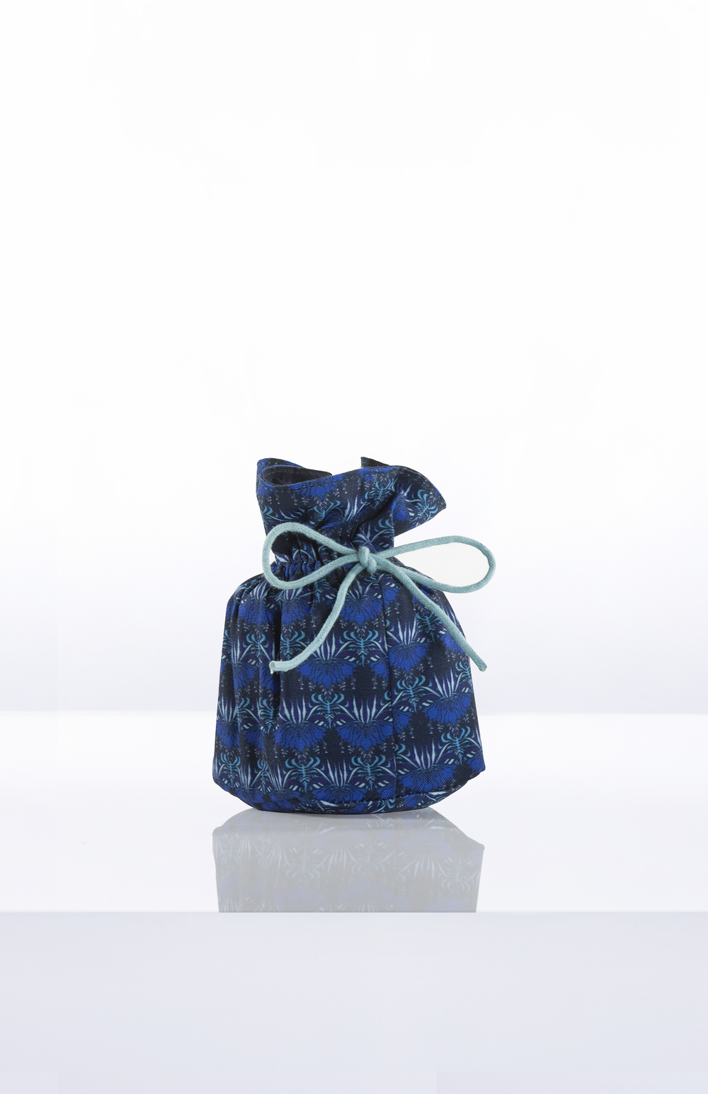 Printed Candle + Canvas Drawstring Pouch