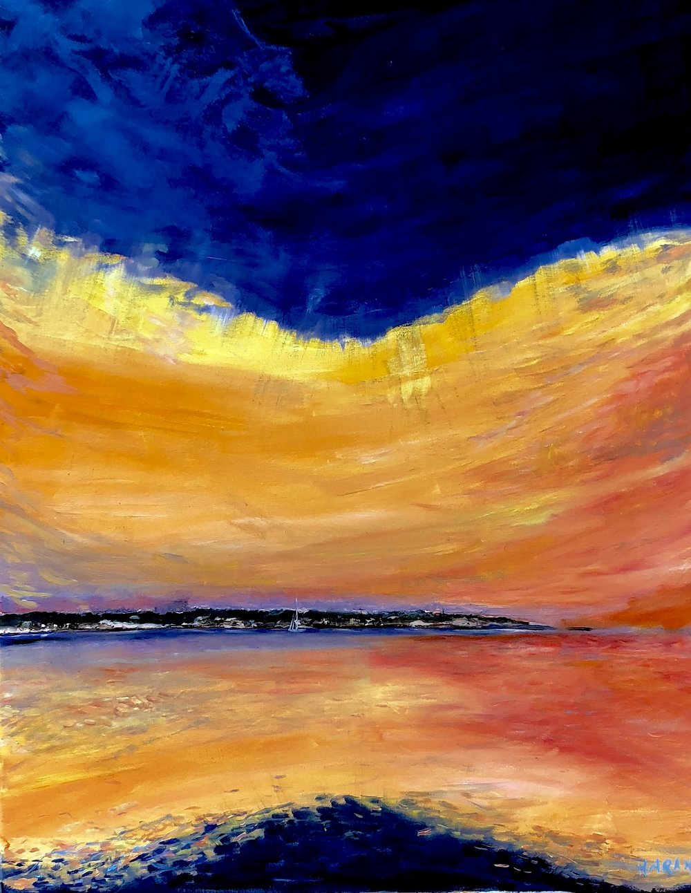 """In This Place, Robbins Island  Oil 30"""" x 40"""" $2100"""
