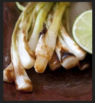 Grilled Green Onions