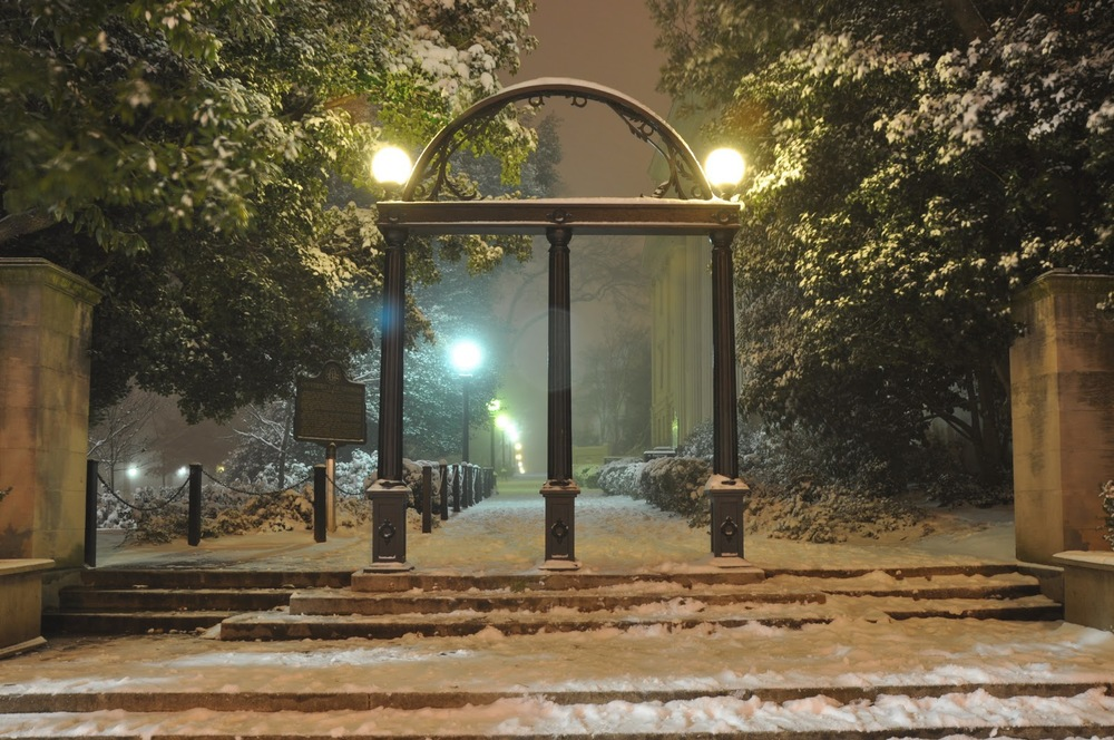 The iconic uga arch: wisdom, justice, and moderation