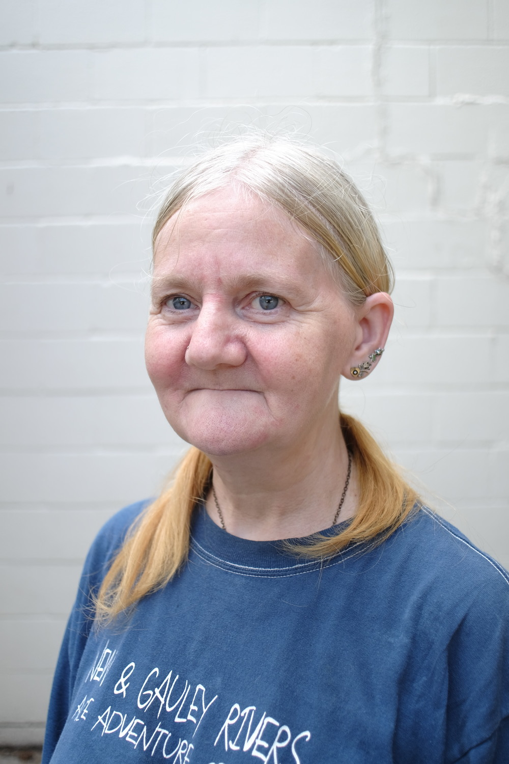 "Sally James has lived in Muskegon for  25 years and has volunteered at Sacred Suds for 12. ""I   came to do my laundry and eventually I volunteered, because I wanted to give the community back what they gave to me.""   What's kept sally there for 12 years?   ""Friends. I like the people here."""