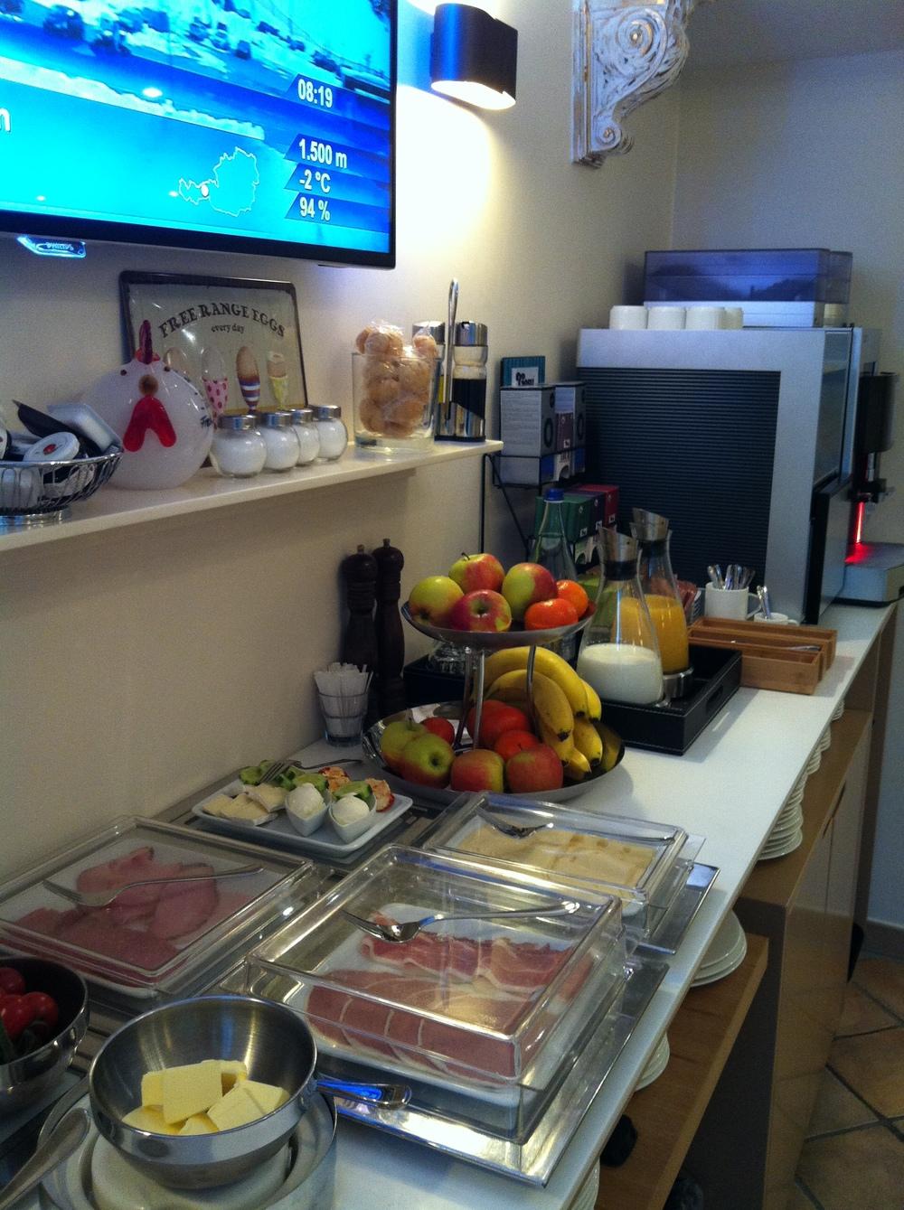 Frühstücksauswahl / breakfast offers