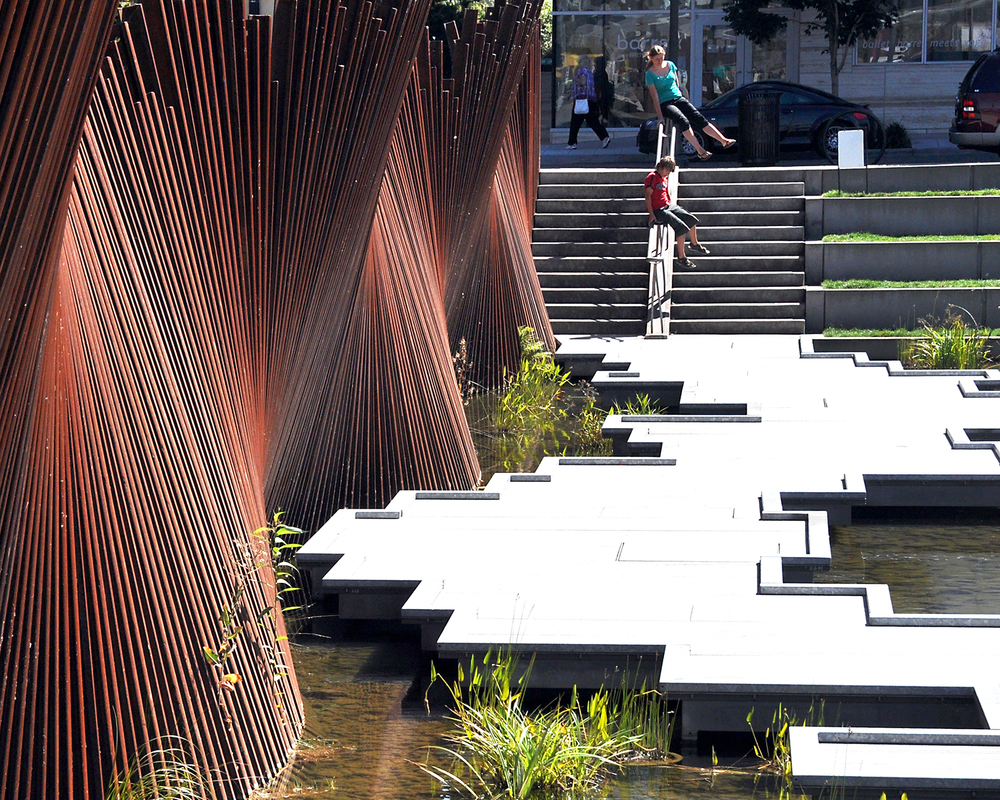 Portland_Tanner Springs Park_c Dreiseitl_103 old railway tracks from the site were transformed into an art sculpture.jpg