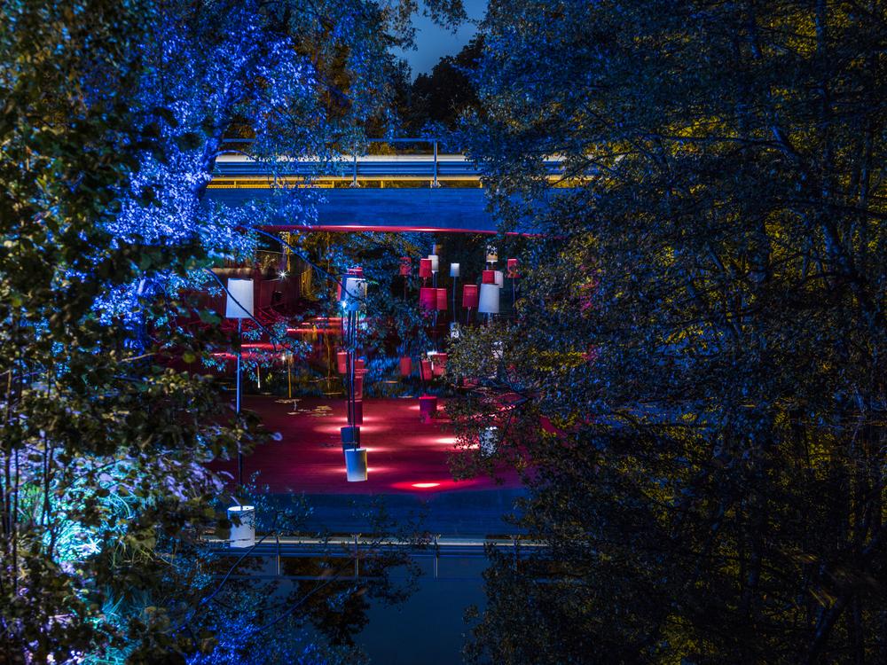 Bilderna i artikeln visar exempel från Lights in Alingsås med olika ljusdesigners som lärare/workshopledare. I detta exempel var Reinhard Germer Workshop Head. Fotograf: Patrik Gunnar Helin