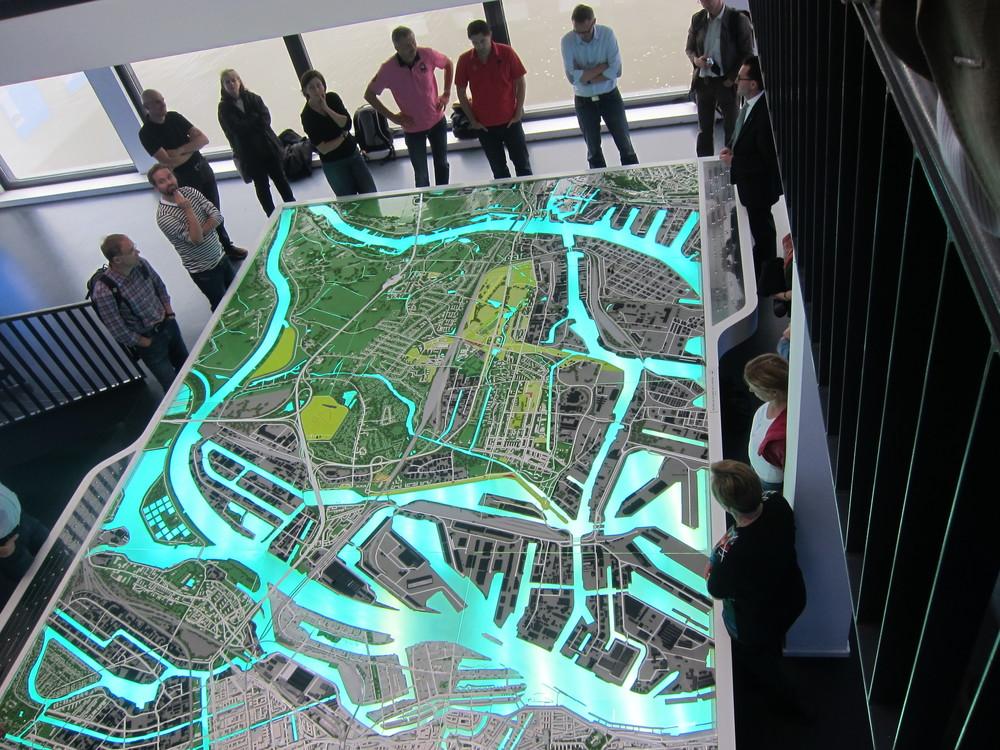 Modell från den internationella byggutställningen IBA Hamburg (2013)
