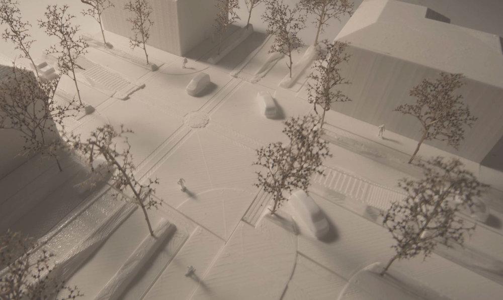 Vinter - Vy över en korsningspunkt