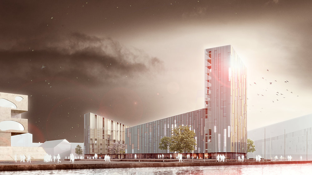 Aalborg. Aalborg kommun är initiativtagare och byggherre till Nordkraft ett ombyggt kraftvärmeverk som idag idag inrymmer ett kulturhus med musik, teater, konst, biograf, sport mm (Exempel på radikalt mainstreamprojekt)