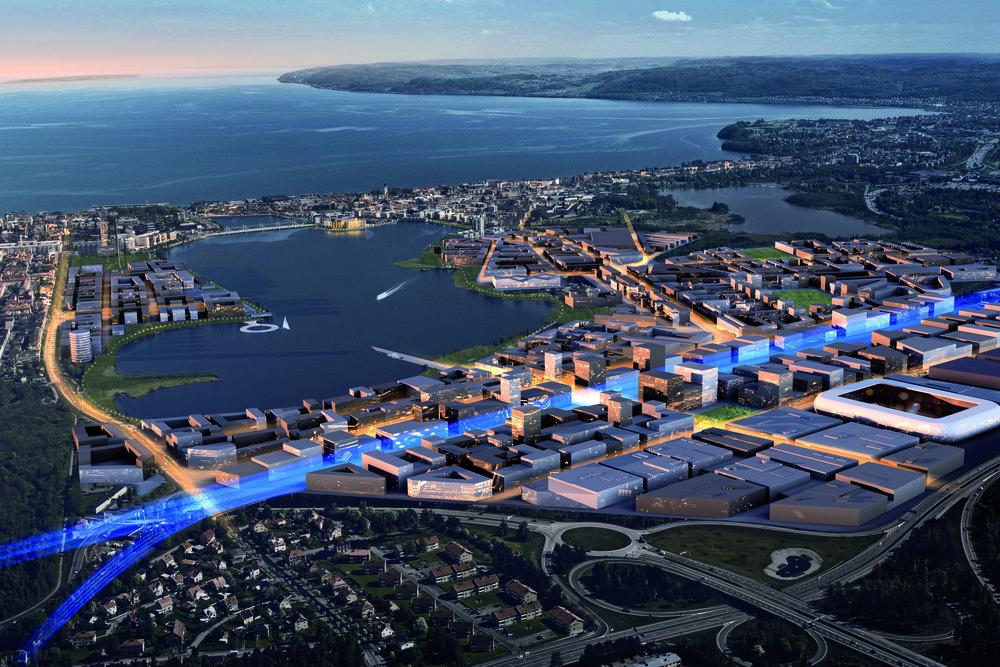 En helt ny stadsdel ska växa fram i staden och också utvidga stadskärnan runt sjön Munksjön. För att kunna lägga fokus på det stora uppdrag som utvecklingen innebär valde kommunen att starta ett helägt kommunalt bolag, Södra Munksjön Utvecklings AB, med uppdraget att leda stadsutvecklingen i området.