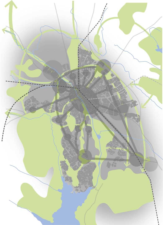 Grönstrukturbild staden 2050