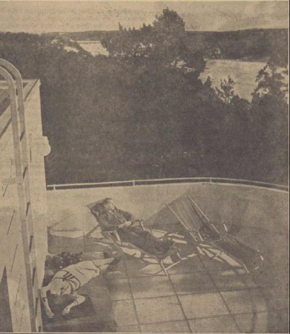 Dagens Nyheter, 12 april 1931, Funkisprofeten, Arkitekten Markelius lever som han lär i sitt  betongpalä i Nockeby