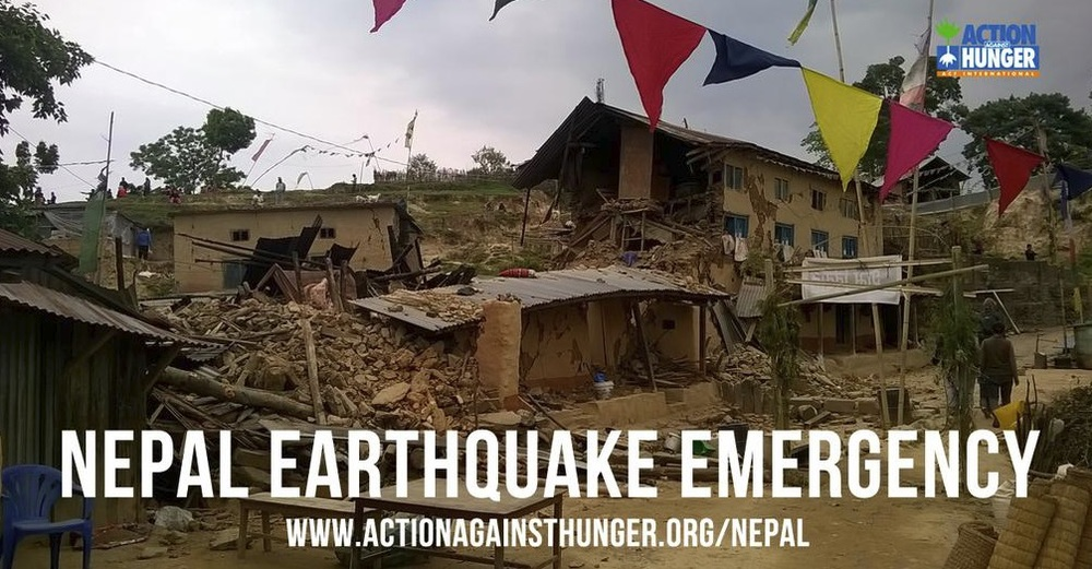 Click on the image to donate directly to 'Action Against Hunger' for the people of Nepal.