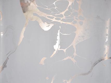 Marble White (Metallic Silver)