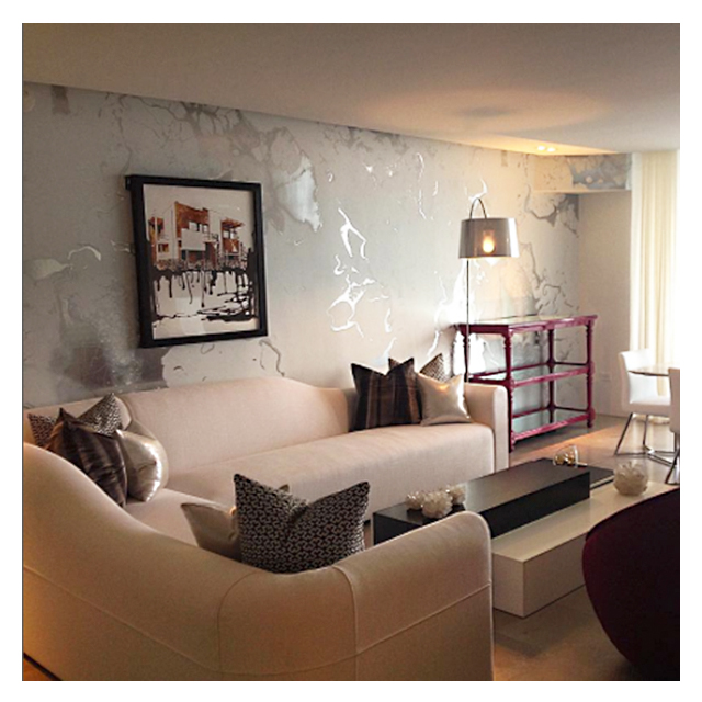 Worth Interiors                                                               Miami, FL    Michael Cina – Marble White (Metallic Silver)