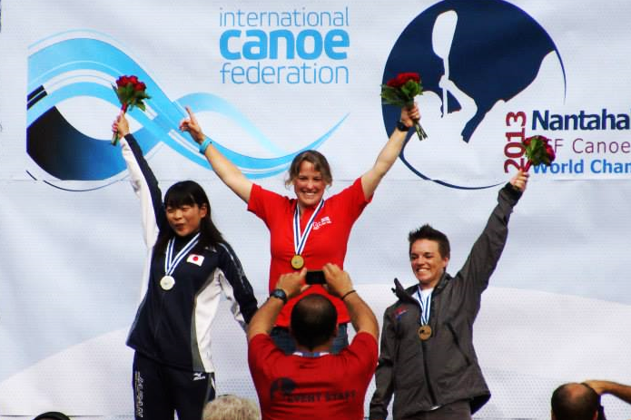 The Womens' Podium at the 2013 Freestyle Worlds