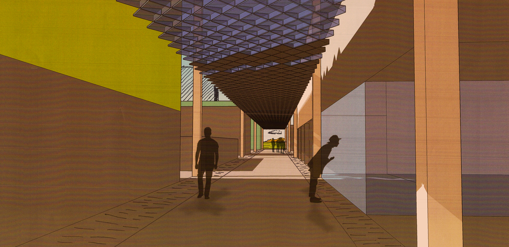 An early representation of what the alleyway could look like.