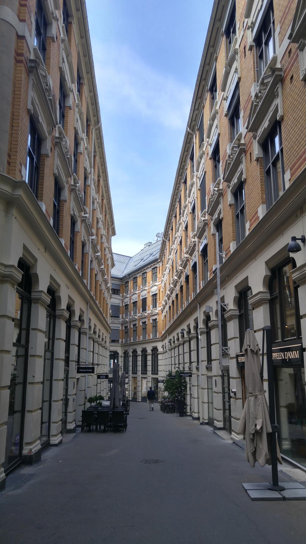 This alleyway referred to as 'City Passage' adjacent to Genson reminds me of Jorcks Passage in Copenhagen.