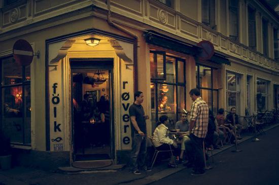 Folk and Rovere Coffeehouse, Skostredet, Bergen, Norway.