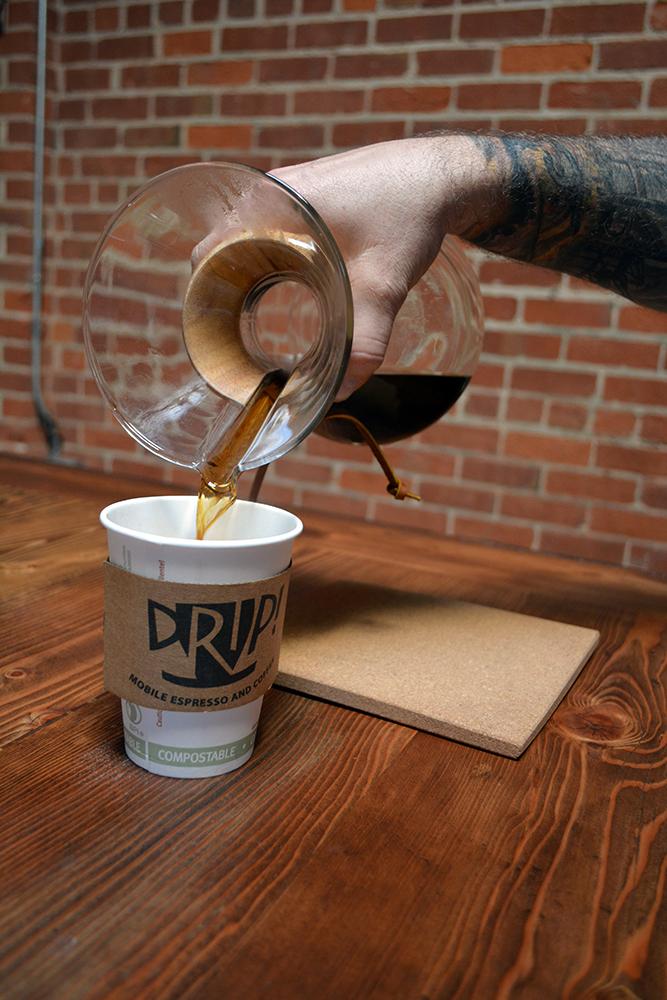 Michael Breden Pouring Drip! Mobile Espresso