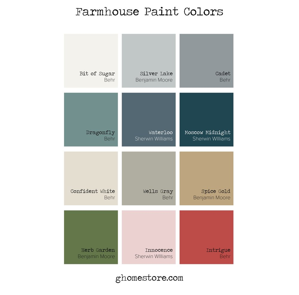 FARMHOUSE PAINT COLORS G Home