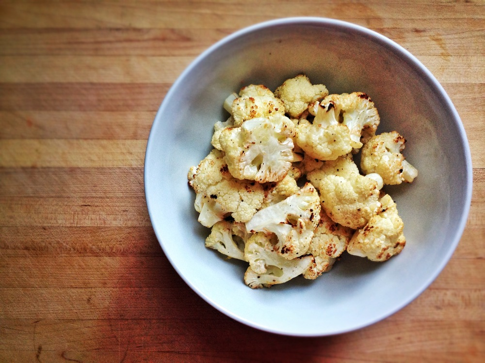 Roasted Cauliflower Infused with Garlic