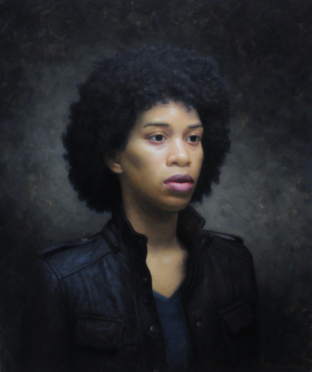 "Brendan Johnston, ""Keshia"", oil on linen, 24x20 in"