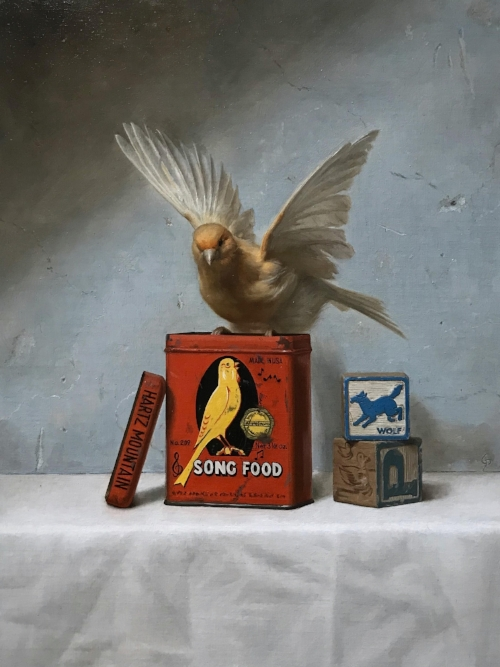 Grant Perry   Song Food   -   SOLD  12 x 9 in oil on linen