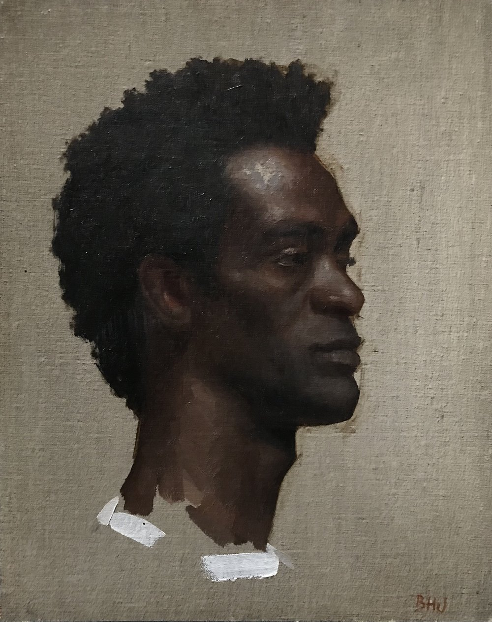 Portrait of Andre  by Brendan Johnston, 2015 8 x 10, oil on panel