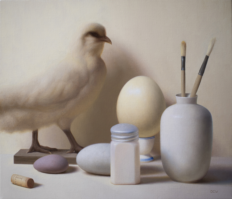 Studio Props  by Devin Cecil-Wishing, 2018, oil on linen, 18 x 21 in, $5,500