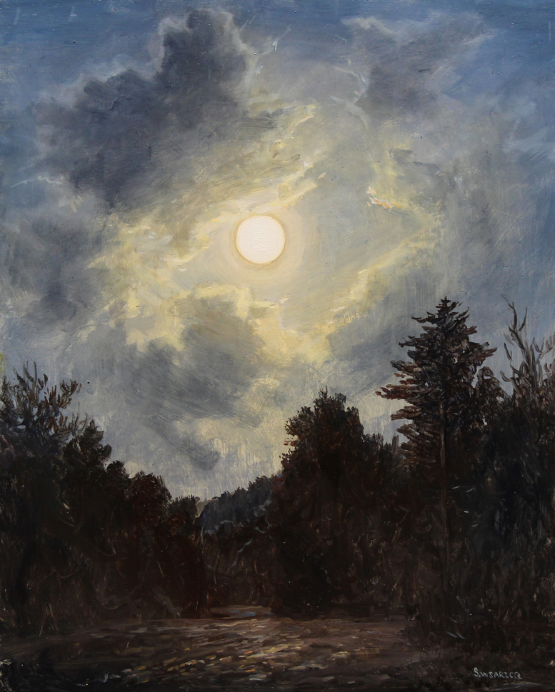 Summer Moon  by Lauren Sansaricq, 2018, oil on panel, 8 x 10 in, $2,500