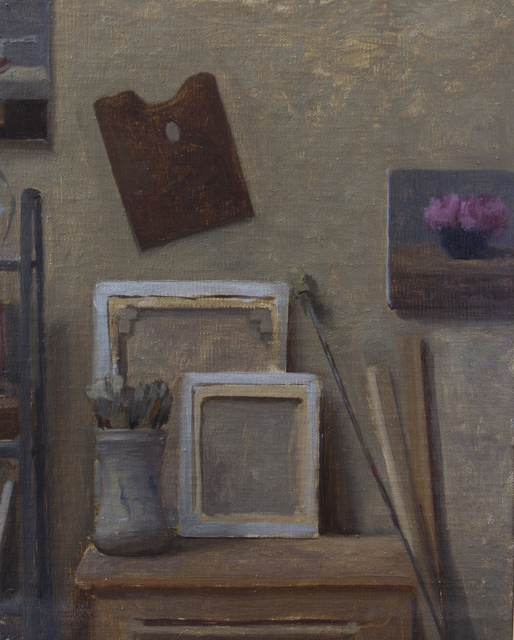 Studio Interior  by Rodrigo Mateo, 2017, oil on panel, 8 x 10 in, $1,200