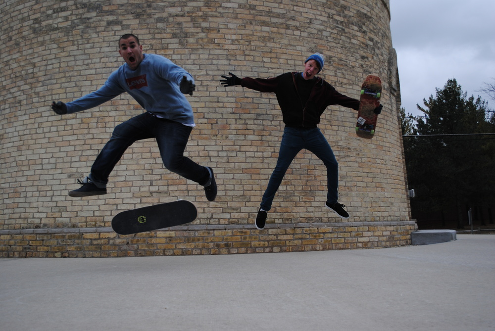 Zac and Heri getting too rad for their own good while shooting some skate ministry photos.