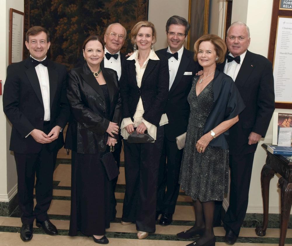 EventsGroup photo French consul General Bertrand Lortholary, Jeri & George Sape, Sophie & Ambassador François Delattre, Dorothy & Ambassador Craig Stapleton DSC_9098.JPG