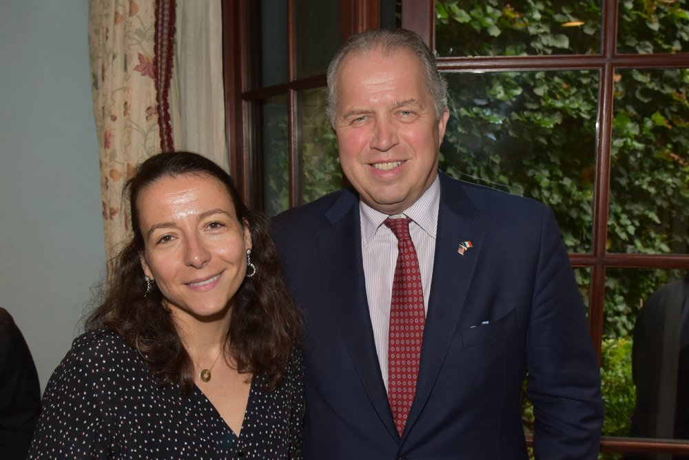 Camile Mantelin, James Gerard at American Friends of Blérancourt Garden Party at Sonja Tremont-Morgan residence in New York on 06/06/2017 (photo by Annie Watt Agency / Sipa USA