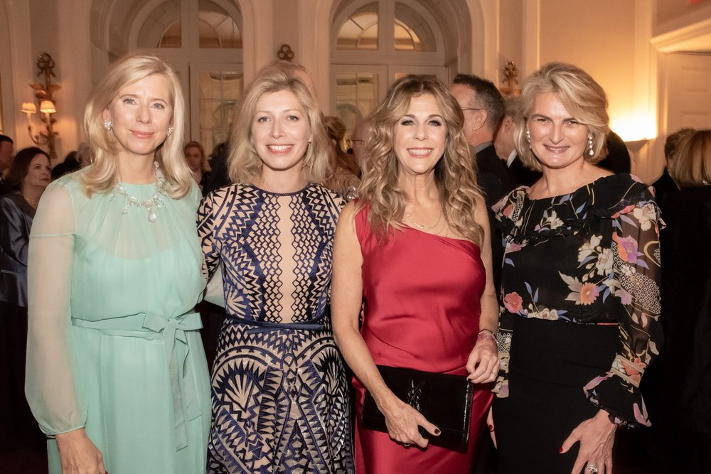 Countess Dorothea De La Houssaye, Anne-Claire Legendre, Rita Wilson, Olivia Tournay Flatto at Annual Gala Dinner of American Friends of Blérancourt  at Private Club in New York on 11/09/2018 (photo by Annie Watt Agency / Sipa USA