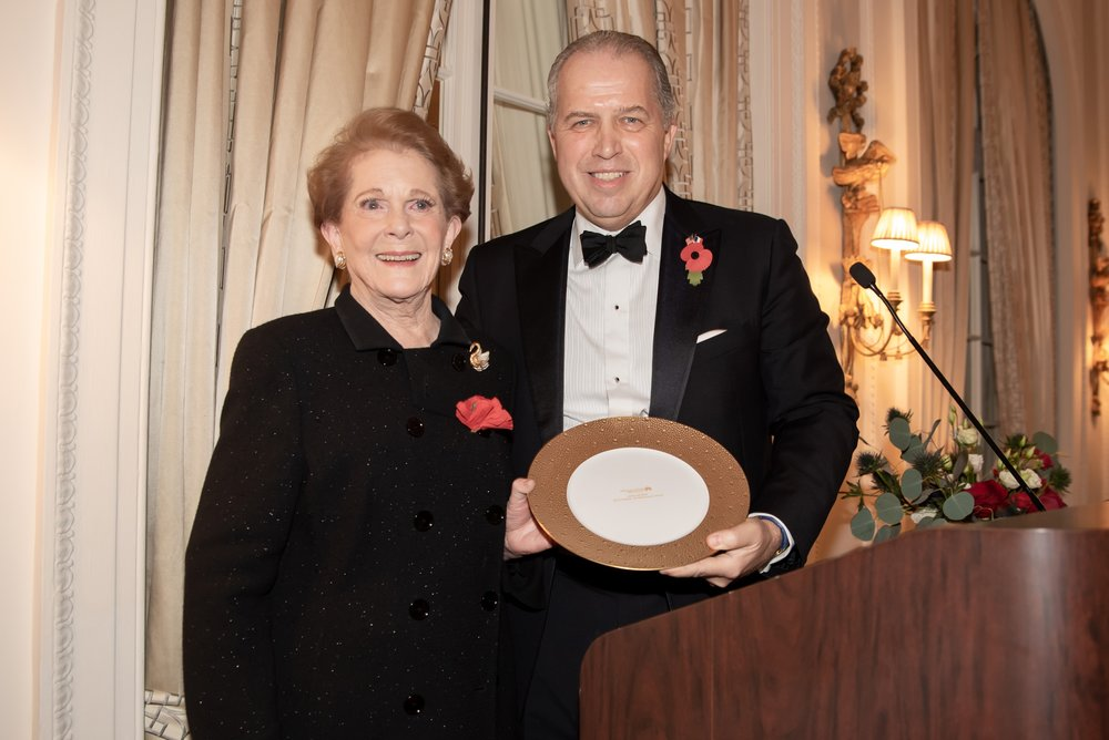 Jean Astrop, James Gerard at Annual Gala Dinner of American Friends of Blérancourt  at Private Club in New York on 11/09/2018 (photo by Annie Watt Agency / Sipa USA
