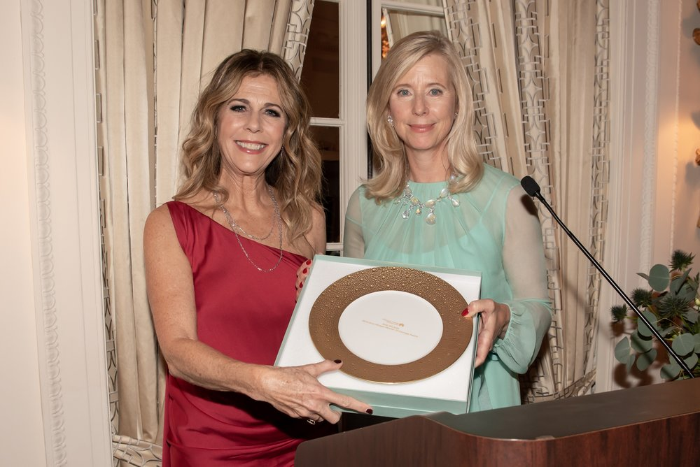 Rita Wilson, Countess Dorothea De La Houssaye at Annual Gala Dinner of American Friends of Blérancourt  at Private Club in New York on 11/09/2018 (photo by Annie Watt Agency / Sipa USA